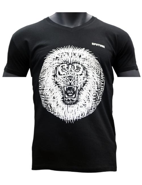 original-T-shirt-Biologique-Lion-Roar-rouge-Marque-Myfuture-Moyen Gamme-Made-In-France-01