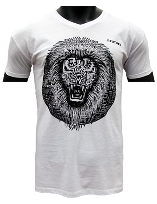 classique-T-shirt-Biologique-Lion-Roar-rouge-Marque-Myfuture-Moyen Gamme-Made-In-France-01